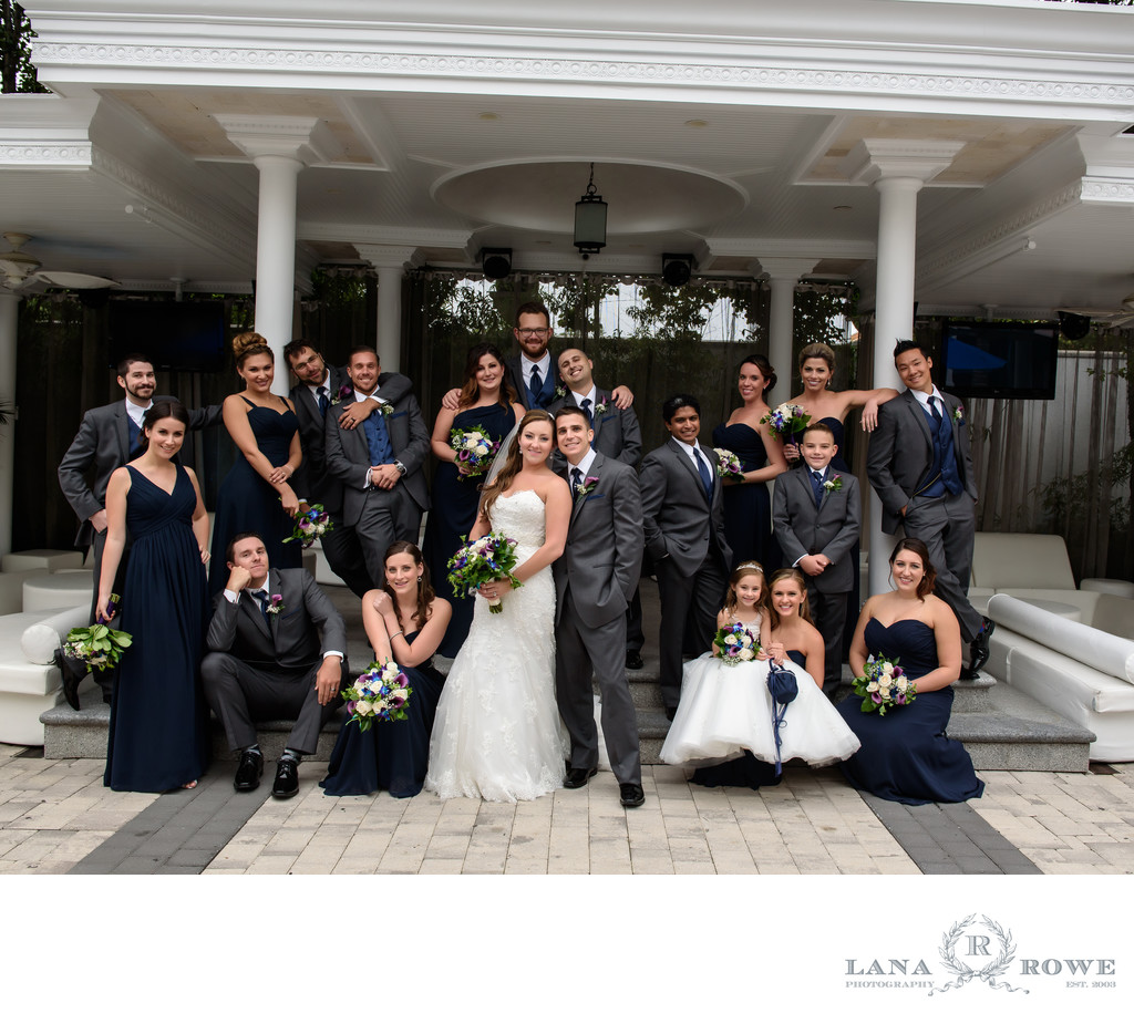 Chateau Briand patio wedding party