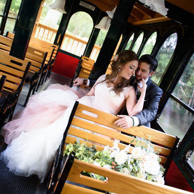 Flowerfield, St. James- trolley for wedding photography