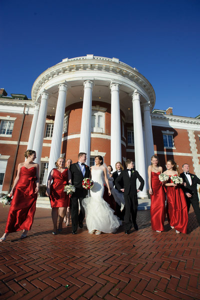 Bourne Mansion wedding photography  wedding party