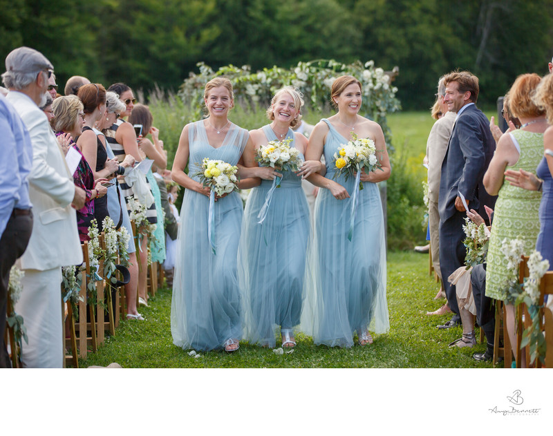 Wedding at Topnotch Resort Bridesmaids