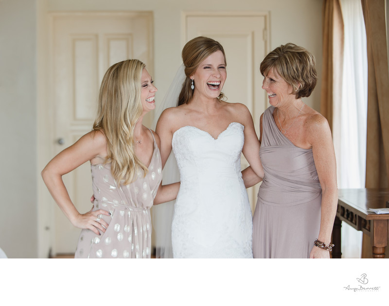 Bridal Family Laughing