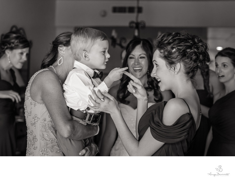 Black and White Wedding reception Photography