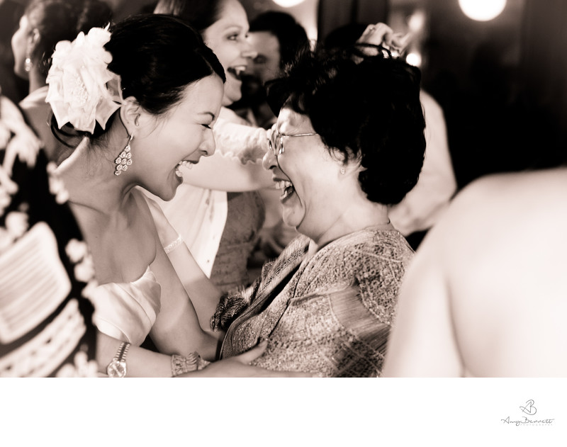 Bride and Grandmother Dancing at Reception