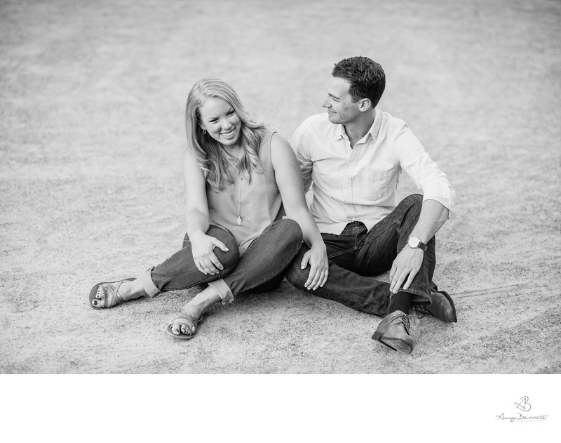 Casual Engagement Intimacy Black and White