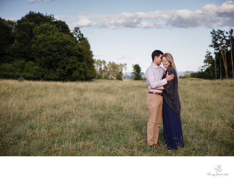 Formal Vermont Engagement Photos
