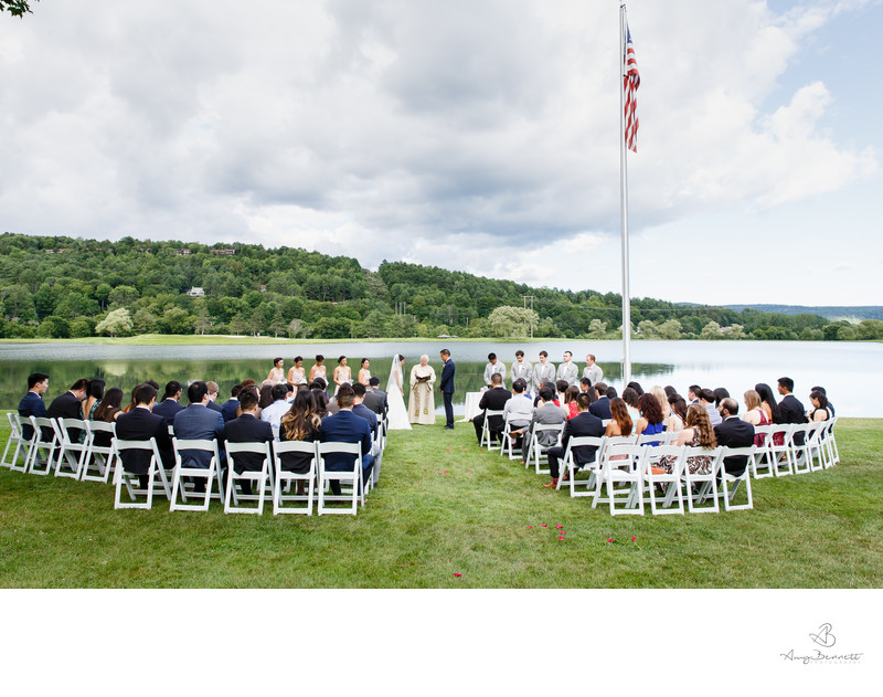 Wedding Ceremony at Quechee Club