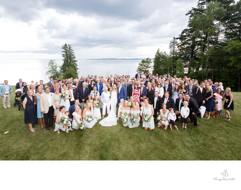 Group Photo at Vermont Wedding