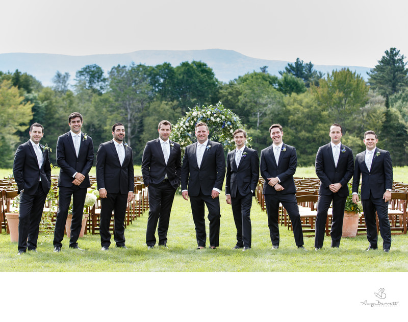 Vermont Tent Wedding Groomsmen