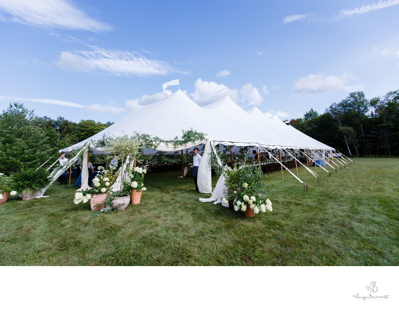 Outdoor Vermont Tent Wedding