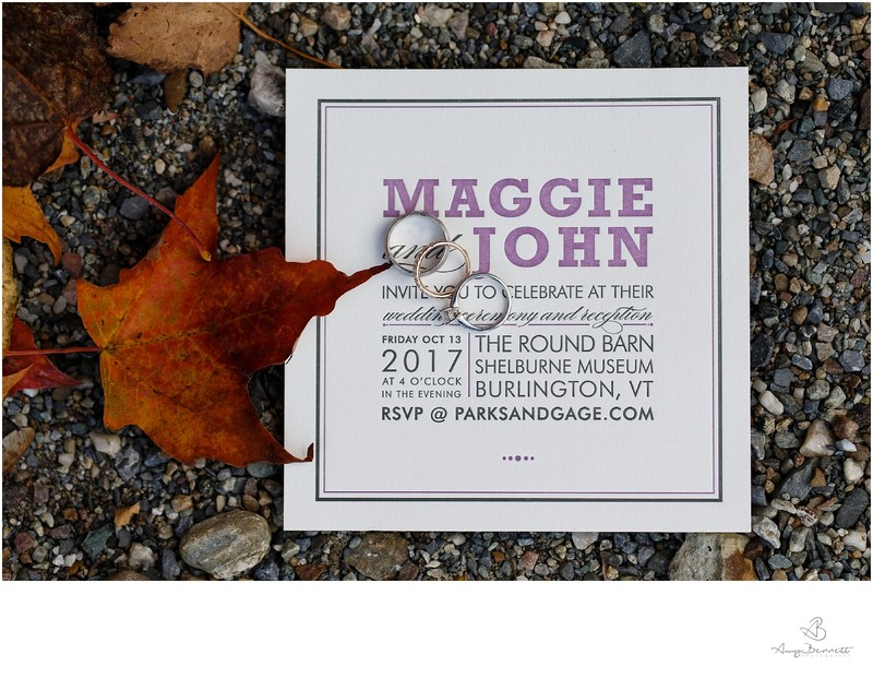 Shelburne Museum Wedding Invitation