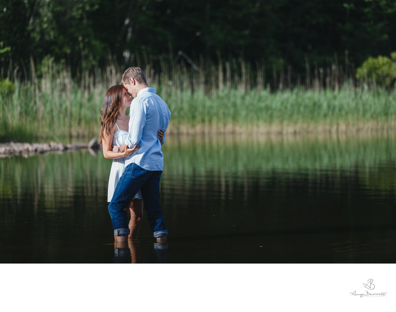 Engagement in Vermont pond