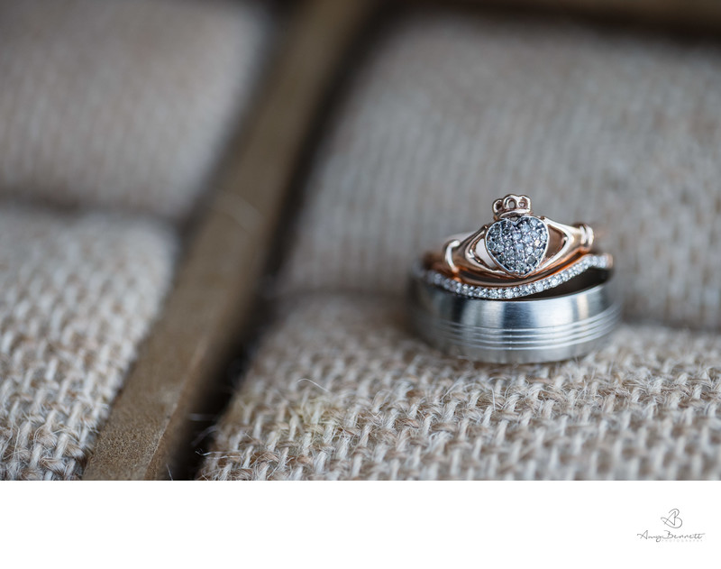 Irish Claddagh Wedding Ring Photography