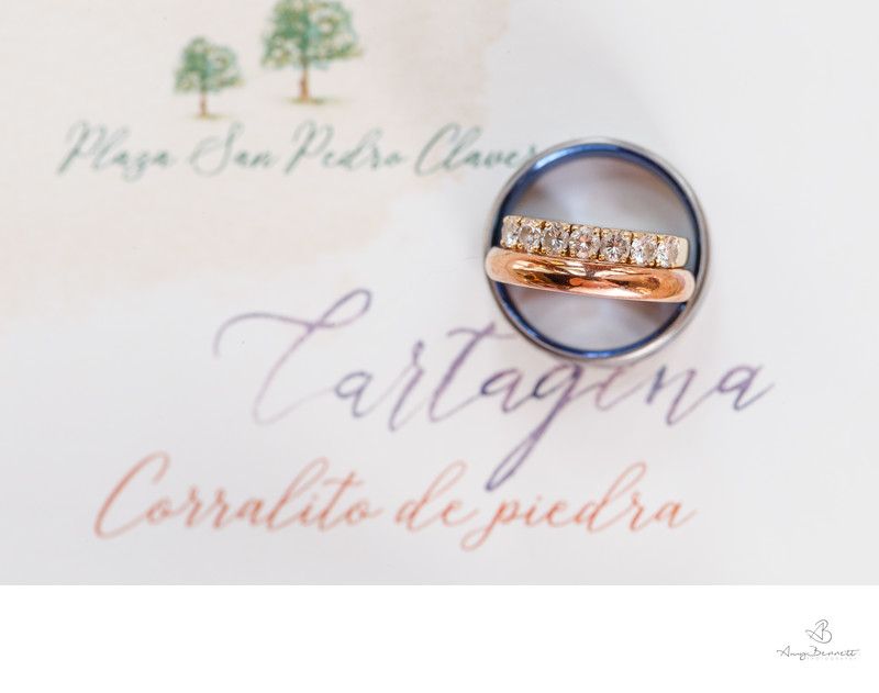 Destination Wedding Rose Gold Ring Photography