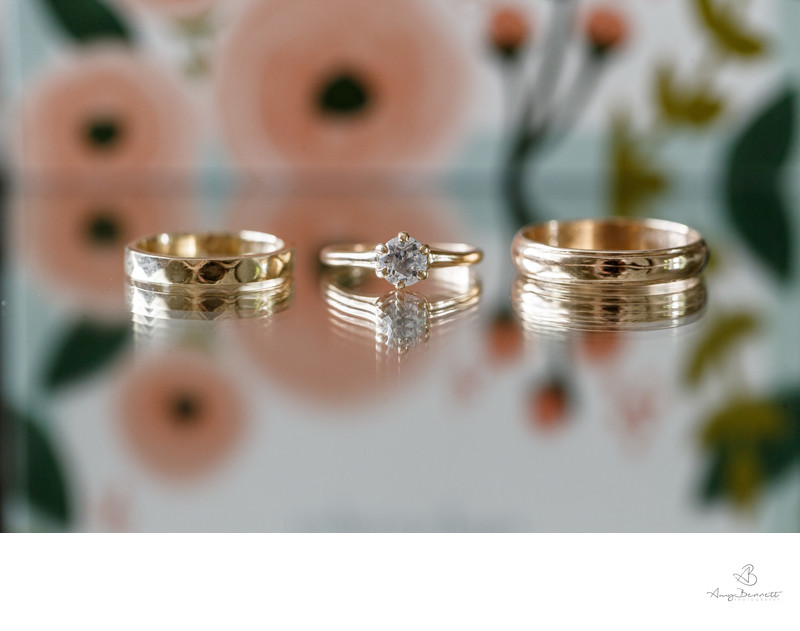 Reflective Surface Wedding Ring Photographer