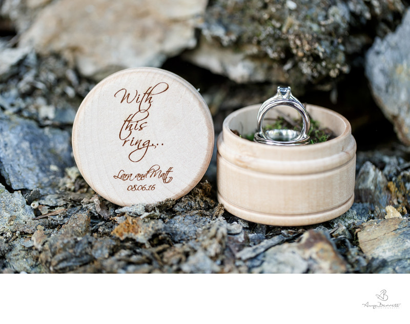 Engraved Ring Box Wedding Ring Photography