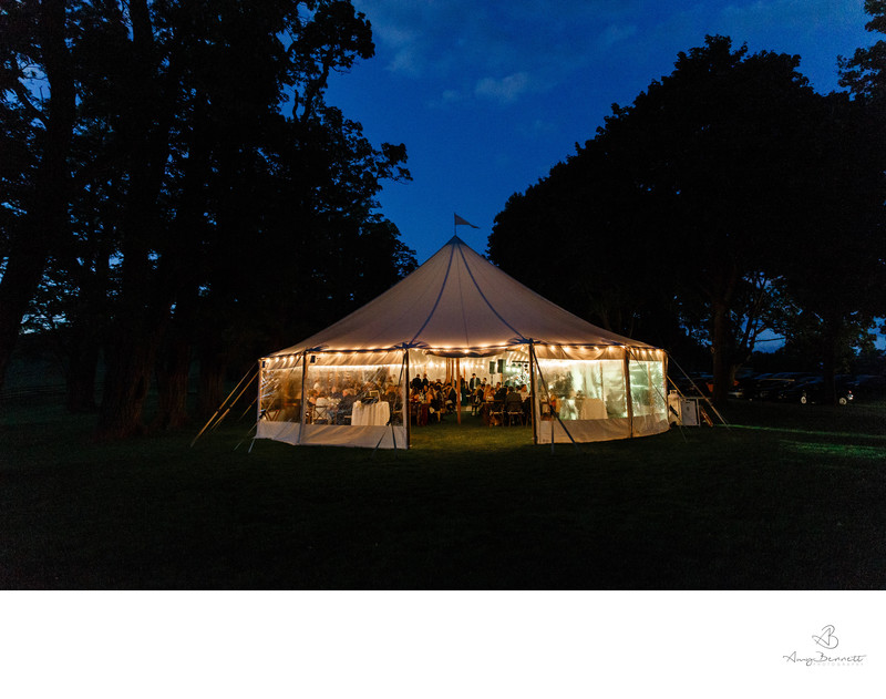 Tented Reception at Shelburne Museum