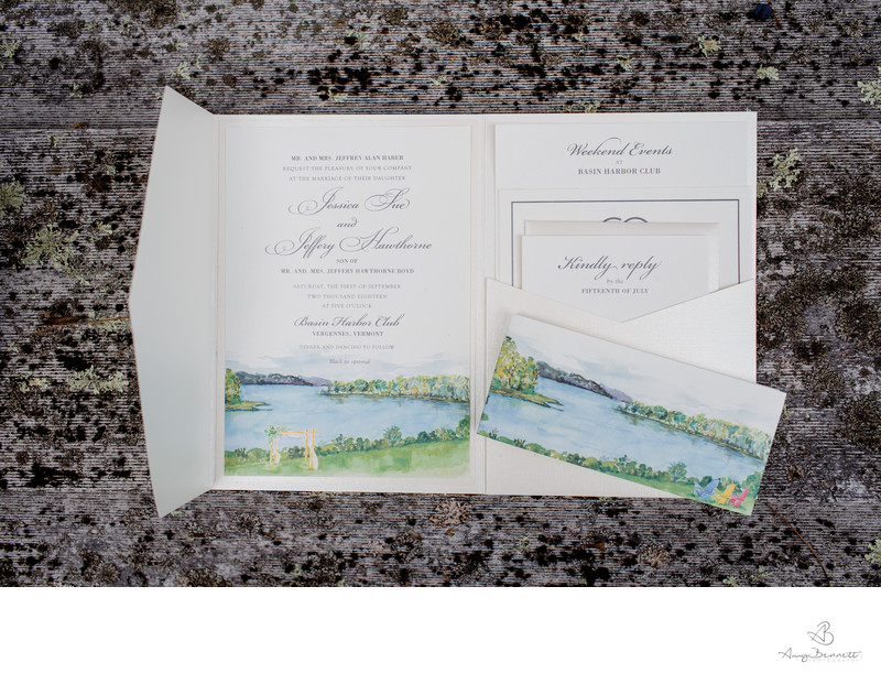 Basin Harbor Club Wedding Invitation
