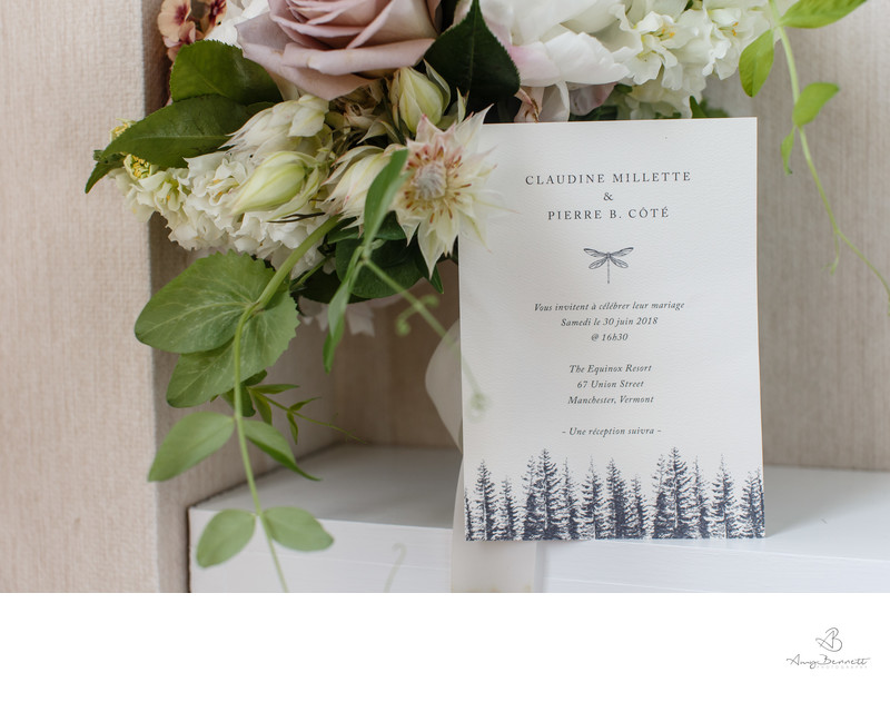 Vermont Elegant Destination Wedding