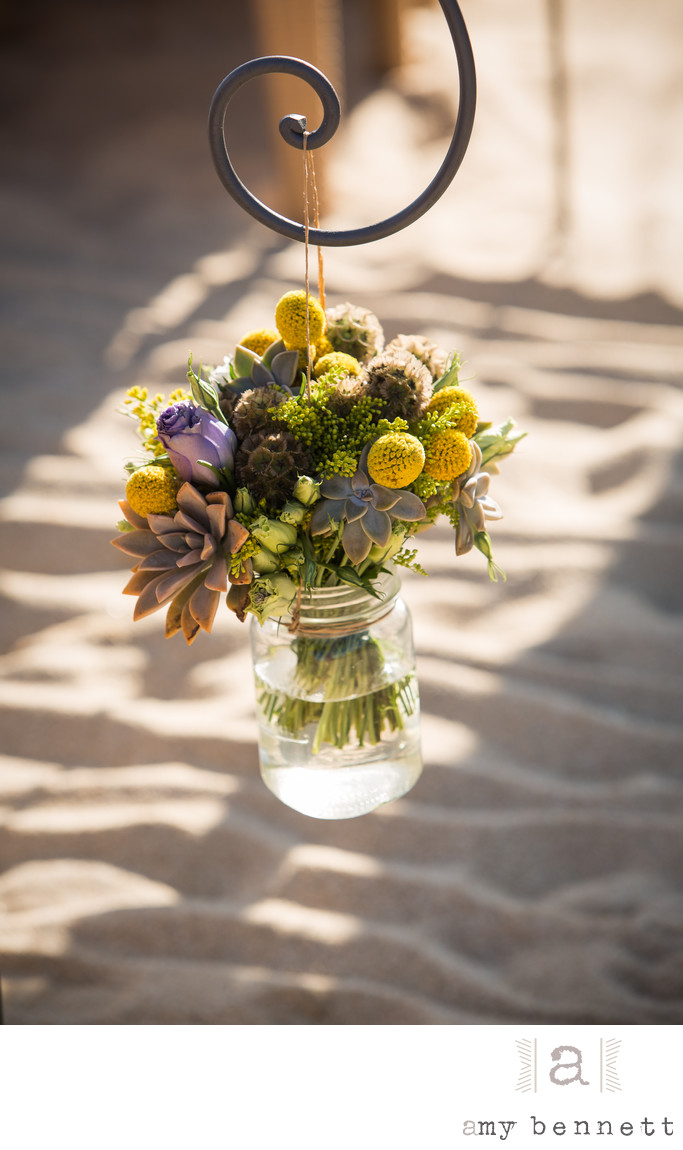 flowers in glass mason jar