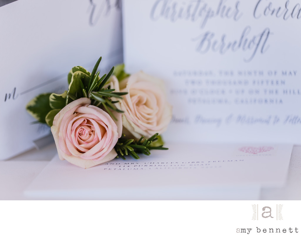Spring Wedding Invitation with Flower