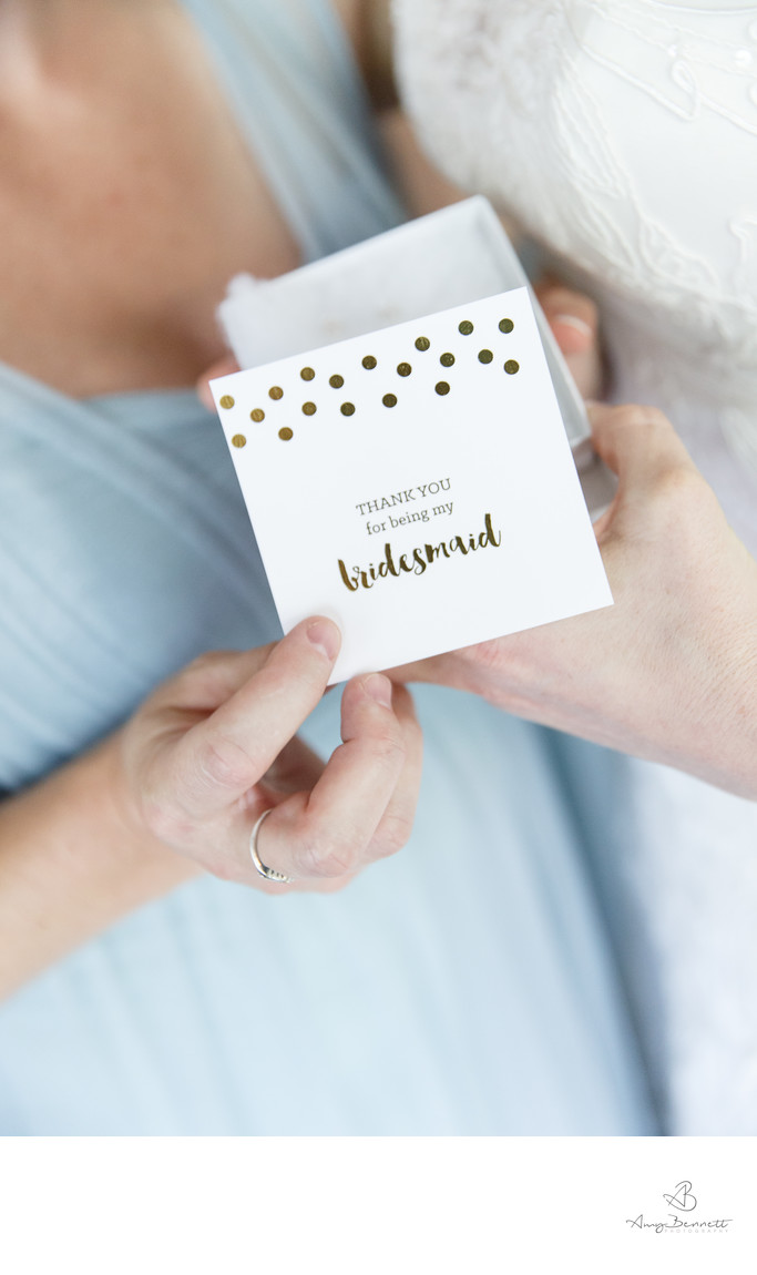 Bridesmaid Gifts at Vermont Wedding