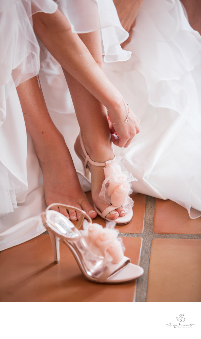 Putting on the Beautiful Wedding Shoes
