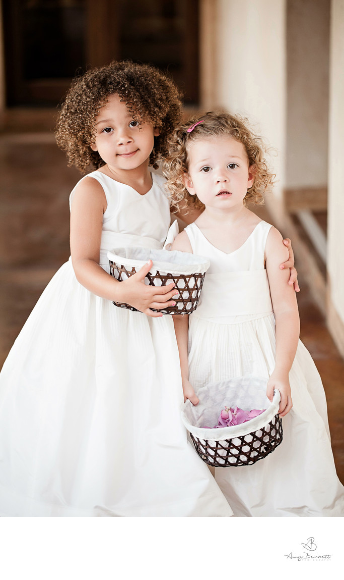 The Flower Girls at Wedding