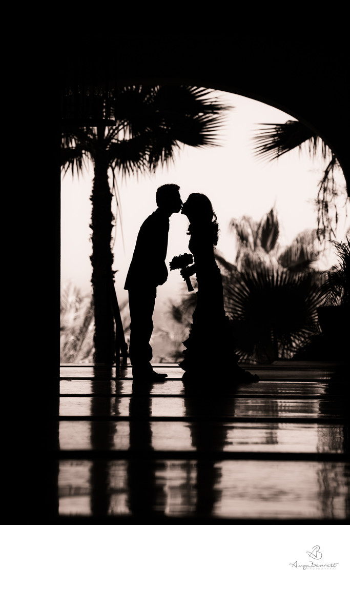 Silhouette Wedding Photography Black and WHite