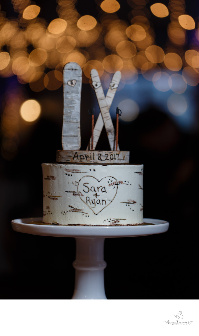 Ski & Snowboard Wedding Cake