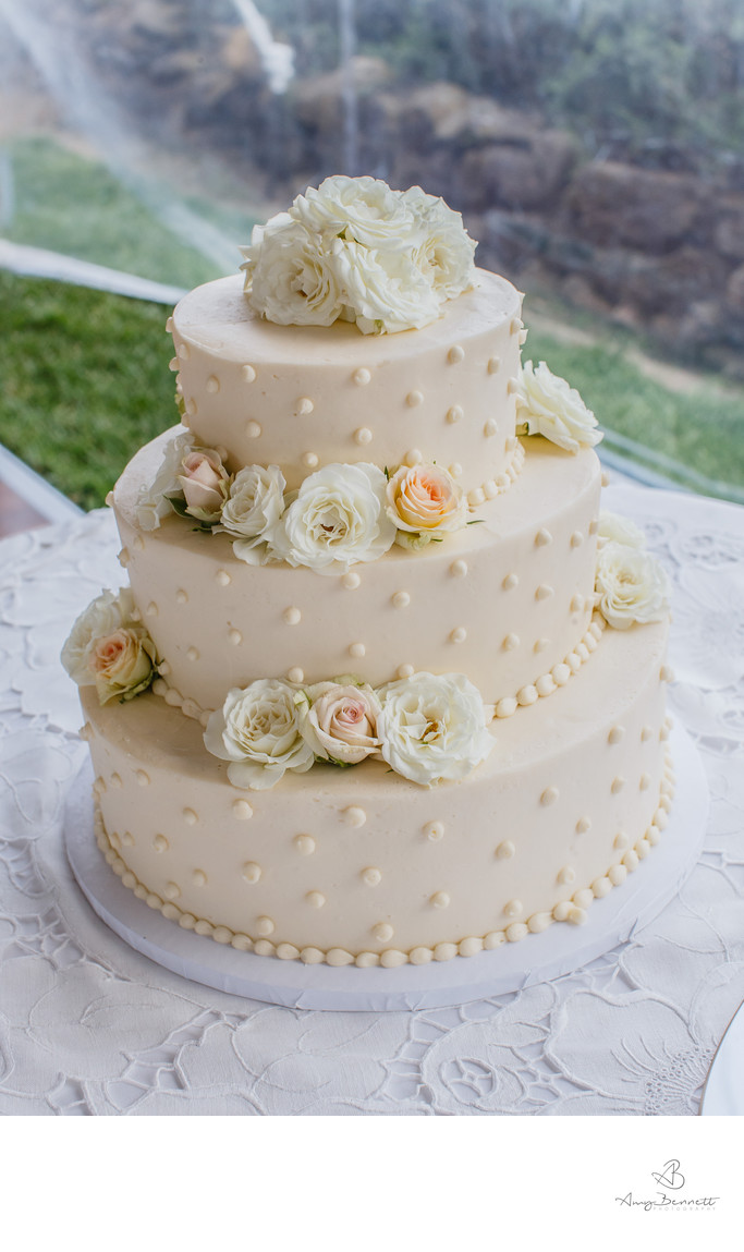 Ross Covered Wedding Cake