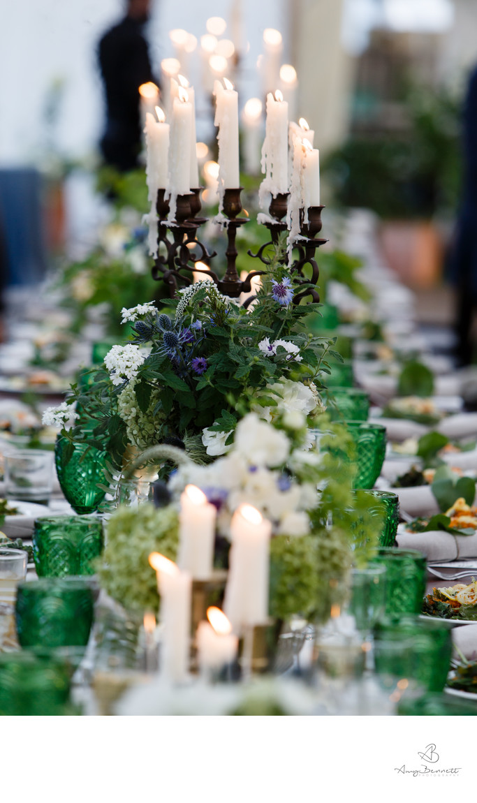 Vermont Barn Table with Candles