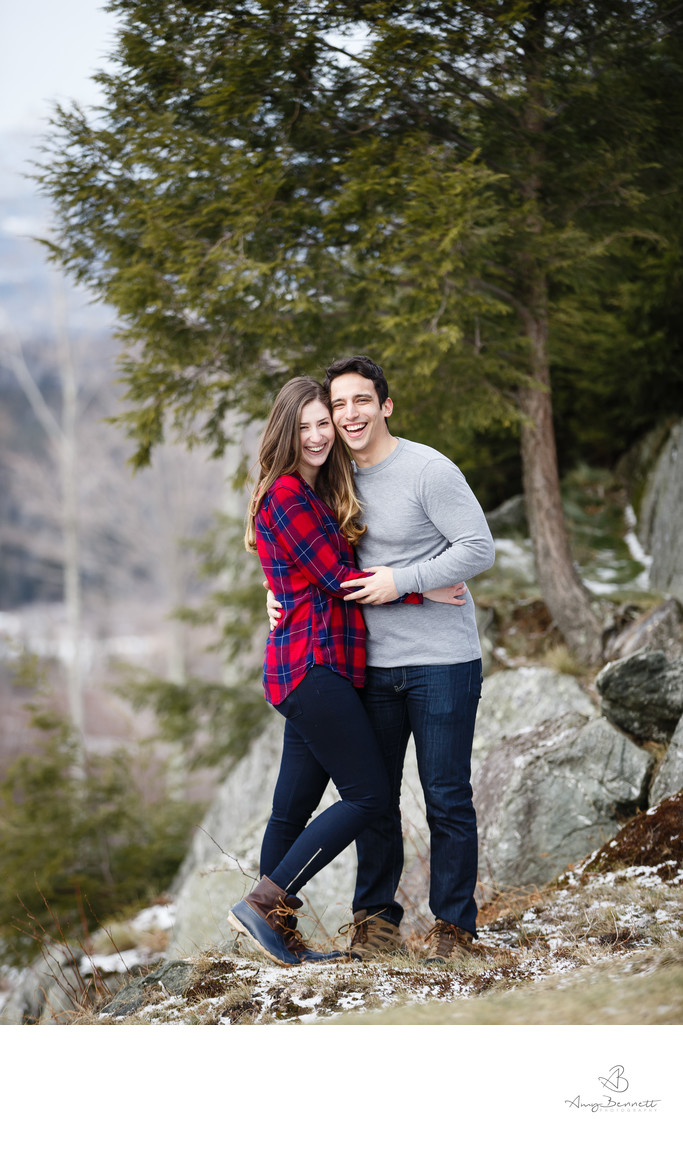 Vermont Plaid Engagement Photography