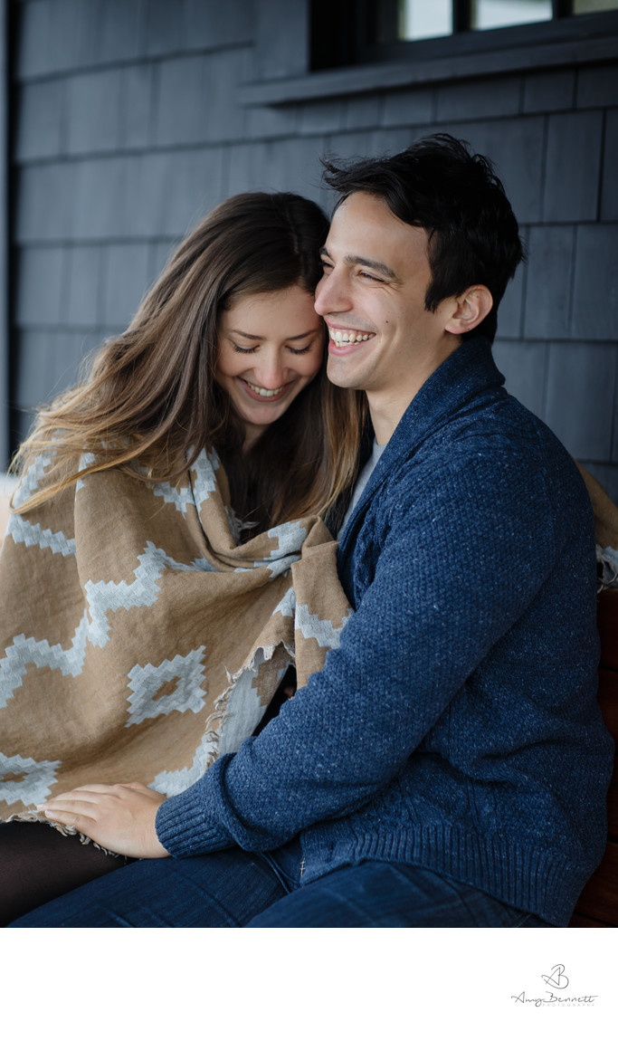 Cozied Up Vermont Engagement Session