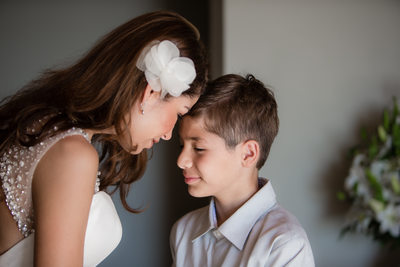 Bride and Ring Bearer Portrait