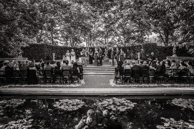 Scenic Black and White Wedding Ceremony
