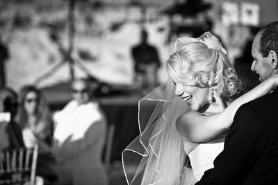 Black and White Blonde Bride