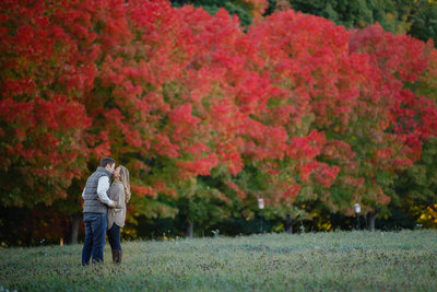 Shelburne Farms Engagement Session Fall Foliage
