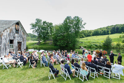 Wedding Ceremony at Scott Farm