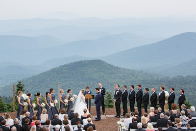 Wedding Ceremony Green Mountains Six Peaks