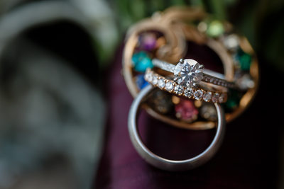 Ring with Jewelry Complement Wedding Photography