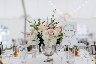 Elegant Vermont Tented Wedding Reception