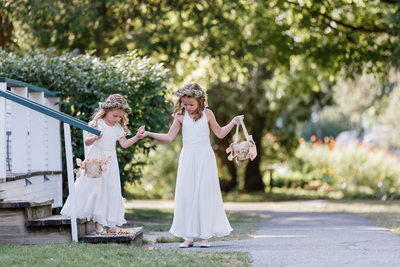 Flower Girls at Basin Harbor Club