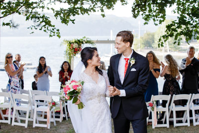 Intimate Wedding at Basin Harbor Club