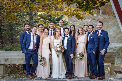 Portrait with Bridesmaids and Groomsmen