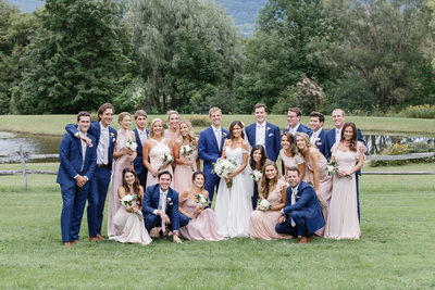 Relaxed Wedding Party Portrait