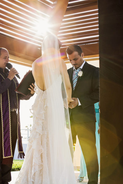 Stunning Light Effect During Ceremony