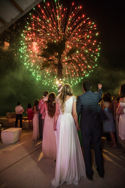Romantic Destination Wedding Fireworks
