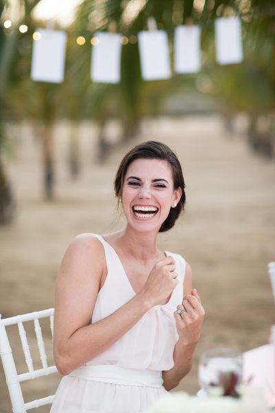 Delighted Bridesmaid at Cabo Reception