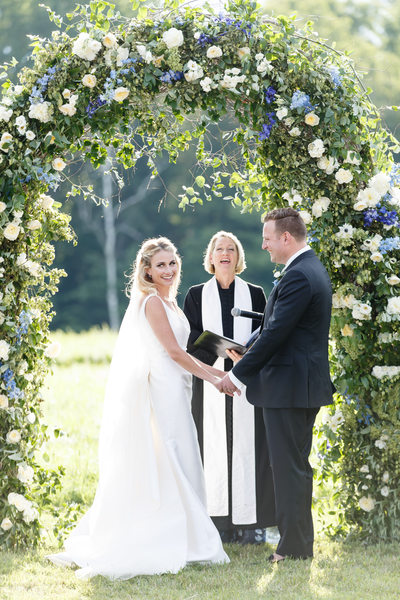 Flower Arbor Vermont Outdoor Wedding