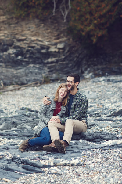 Engagement on Lake Champlain Beach